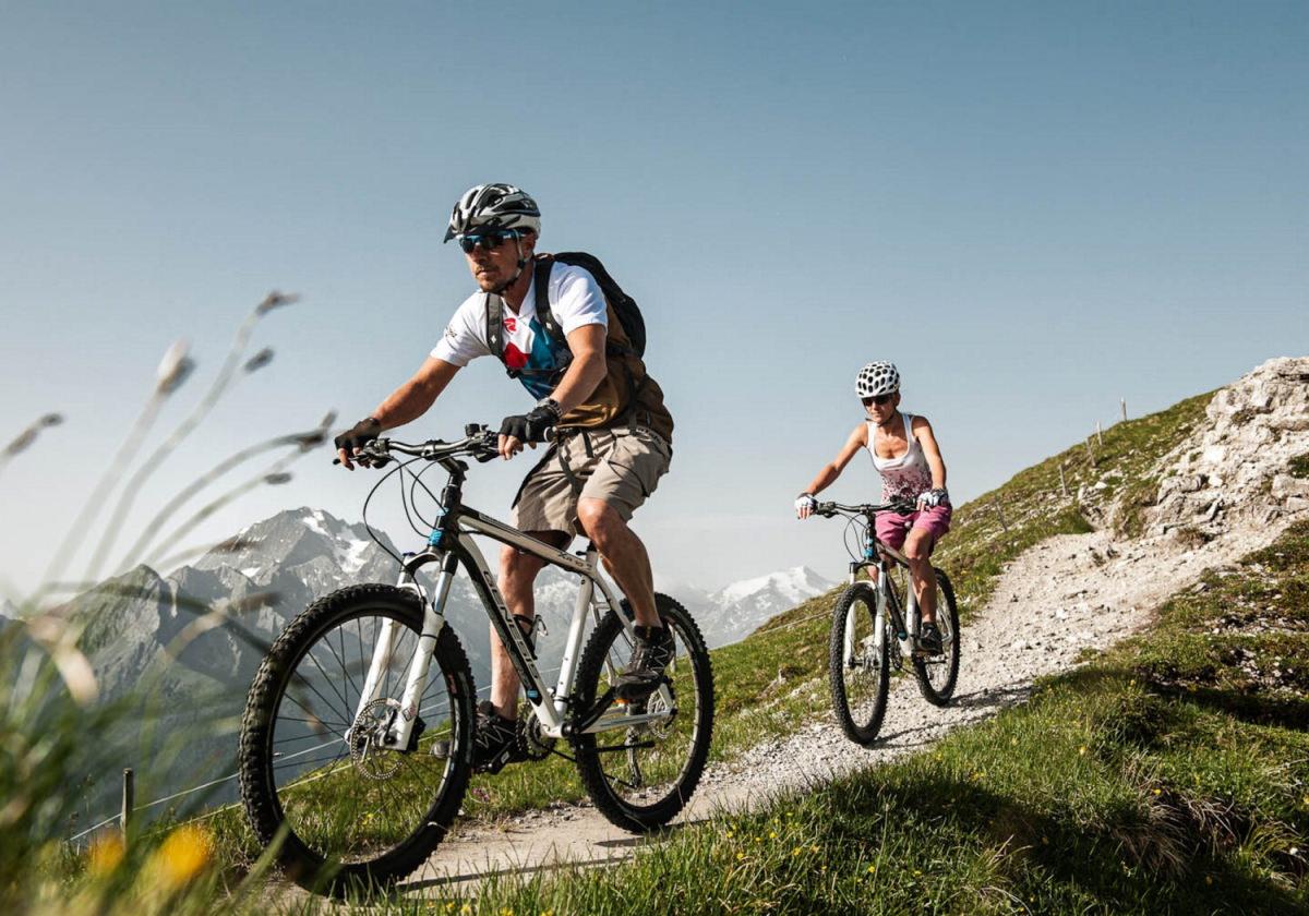 Mountainbike fahren im Stubaital
