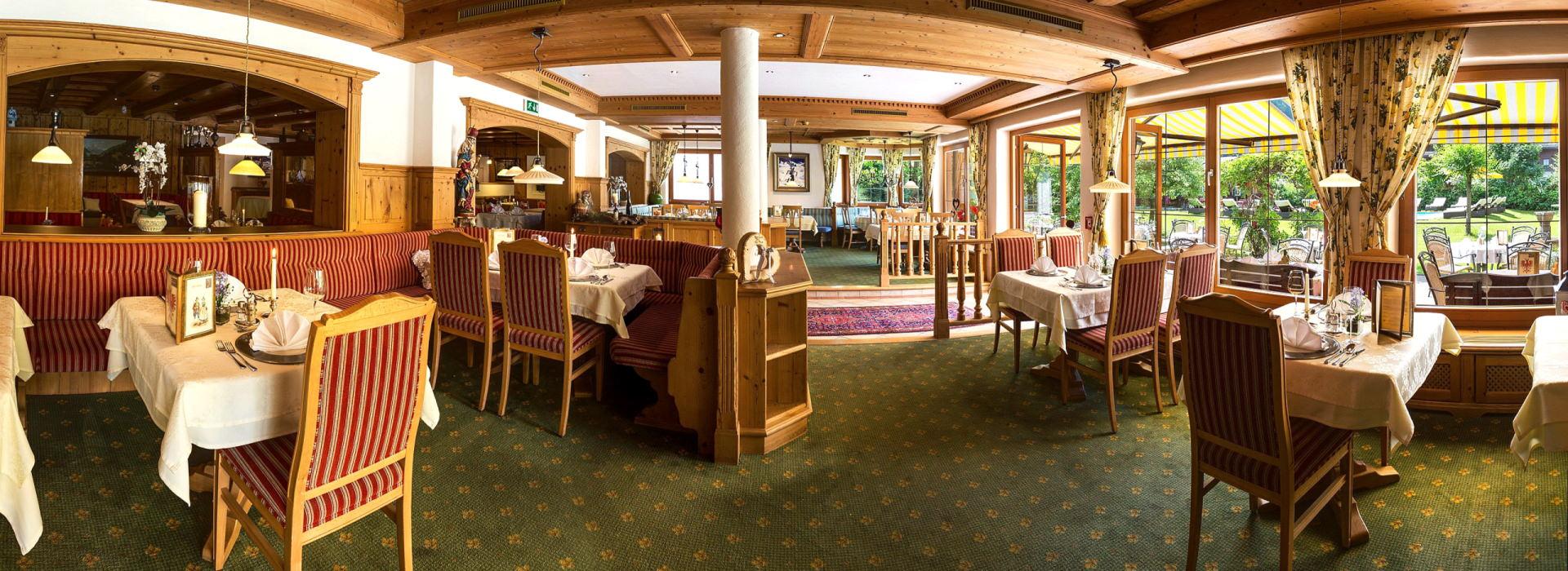 Unser Speisesaal im Alpenhotel Tirolerhof**** Neustift