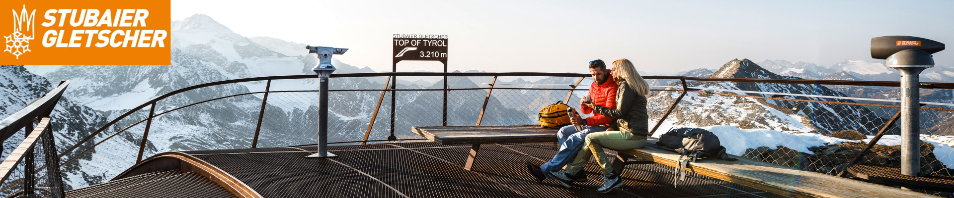 Top of Tirol viewing platform on the Stubai Glacier